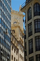 Low angle view of buildings, Buenos Aires, Argentina