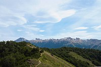 Panoramic view of a mountain range, San Carlos De Bariloche, Argentina