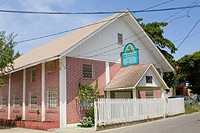Church at the roadside, Seventh-day Adventist, French Harbour, Roatan, Bay Islands, Honduras
