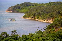 High angle view of a tourist resort, Paya Bay Resort, Roatan, Bay Islands, Honduras