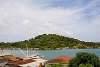 Mountain at the riverside, Jonesville, Roatan, Bay Islands, Honduras
