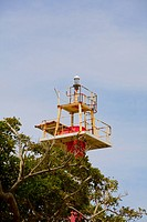 Low angle view of a lighthouse, Roatan, Bay Islands, Honduras