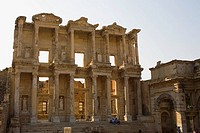 Facade of an old library, Celsus Library, Ephesus, Turkey