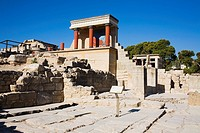 Old ruins of a palace, Knossos, Crete, Greece