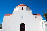 Low angle view of a church, Mykonos, Cyclades Islands, Greece