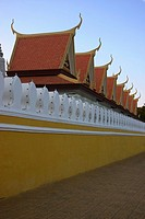 Wall of a palace, Royal Palace, Phnom Penh, Cambodia