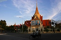 Palace at the roadside, Royal Palace, Phnom Penh, Cambodia