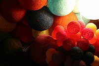 Large group of balls of wool, Night Market, Luang Prabang, Laos