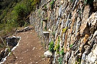 Old ruins of a stone wall, Choquequirao, Peru