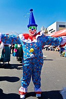 Clown dancing in the street, Arequipa, Peru (thumbnail)