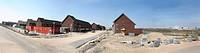 Panorama shot of new houses in Leidsche Rijn, west of the city of Utrecht, the Netherlands