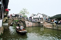 Tourists, Zhouzhuang Town, Kunshan City, Jiangsu Province of People's Republic of China, FOR EDITORIAL USE ONLY
