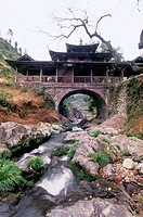 Yuwen Bridge Built in Qing Dynasty in Taishun, Taishun County, Zhejiang Province, People´s Republic of China