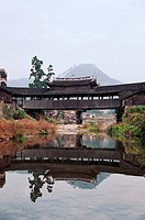 Yongqing Bridge Built in Qing Dynasty in Taishun, Taishun County, Zhejiang Province, People's Republic of China