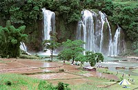 Detian waterfall, Daxin County, Nanning City, Guangxi Zhuang Nationality Autonomous Region of People´s Republic of China, FOR EDITORIAL USE ONLY