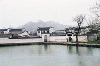Ancient residences in Hongcun Village, Yixian County, Anhui Province, People´s Republic of China