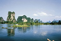 Yulong river, Yangshuo, Yangshuo County, Guilin City, Guangxi Zhuang Nationality Autonomous Region of People´s Republic of China
