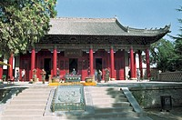 Main Hall of Entrance to Huang Di Mausoleum, Huangling County, Yan'an City, Shanxi Province, People's Republic of China, FOR EDITORIAL USE ONLY