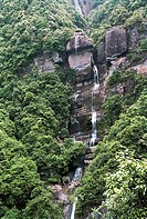 Jiutian strait valley waterfall of Qingyun mountain, Changle, Fuzhou City, Fujian Province, People's Republic of China