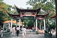 Entrance of Yongquan Temple, Gushan, Fuzhou City, Fujian Province of People´s Republic of China, FOR EDITORIAL USE ONLY