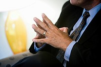 Close up of a businessman´s hands