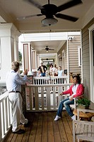 Next_door neighbors on front porches