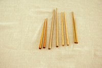 Wooden chopsticks on cotton cloth
