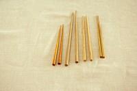 Wooden chopsticks on cotton cloth