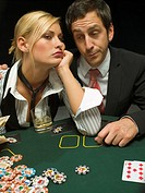 Upset couple at poker game