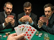 Men playing poker