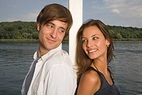 Young couple near lake