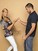 Young couple fighting