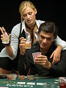 Couple at poker game