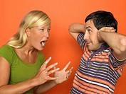 Woman screaming at man