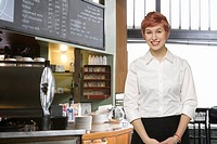 Female server at coffee shop
