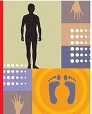 Reflexology is done by applying pressure to parts of the feet and hands to relax and cure the rest of the body