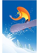 Illustration of a snowboarder (thumbnail)