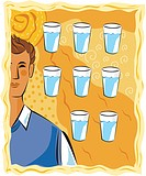 Eight glasses of water a day (thumbnail)