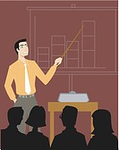A businessman giving a sales presentation (thumbnail)