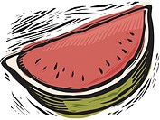 Fresh watermelon slice (thumbnail)