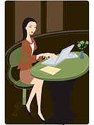 Businesswoman using her laptop (thumbnail)