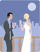 A man and woman drinking martinis on a terrace (thumbnail)