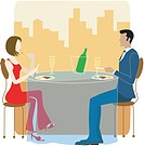 Man and Woman dining together