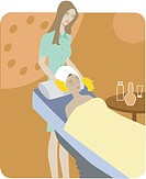 Woman having a facial (thumbnail)