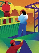 An illustration of workers in a construction zone (thumbnail)