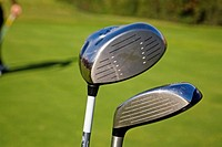 Golf clubs. Practice golf course. Costa del Sol. Andalusia, Spain