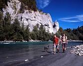 Switzerland, Europe, Ruinaulta, Rhine Canyon, Rheinschlucht, Canton Grisons, Graubunden, Grisons, Vorder Rhine, river,