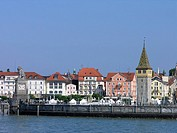 Germany, Europe, Lindau, Lake Constance, Bavaria, harbor, harbor, Mang Tower, old town