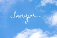 I love you written in vapour