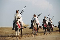 Arab horsemen, Crown Prince's Royal Guard. Bahrain
